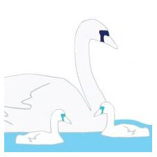 Animal - Swan Stretched Wall Art