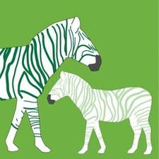 Animals Zebra Stretched Canvas Art