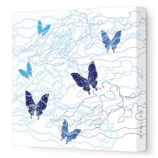 <strong>Avalisa</strong> Imagination - Butterfly Trails Stretched Wall Art
