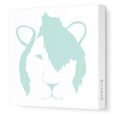 Animal Faces Punk Lion Stretched Canvas Art