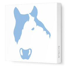 Animal Faces Horse Stretched Canvas Art
