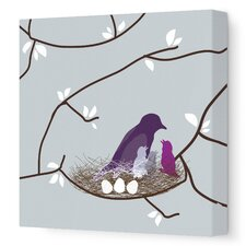 Imaginations Bird Nest Stretched Canvas Art