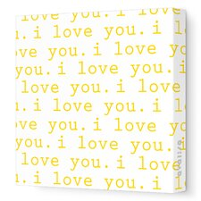Imaginations 'I Love You' Stretched Canvas Art