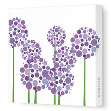 Imaginations Allium Stretched Canvas Art