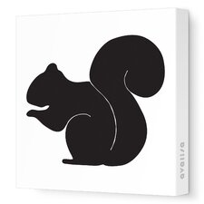 <strong>Avalisa</strong> Silhouette - Squirrel Stretched Wall Art
