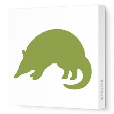 <strong>Avalisa</strong> Silhouette - Armadillo Stretched Wall Art