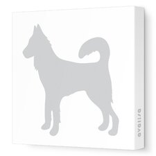 Silhouettes Dog Stretched Canvas Art