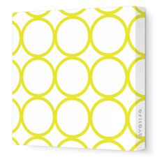Pattern Circles Stretched Canvas Art