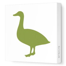 Silhouette - Duck Stretched Wall Art