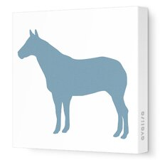 Silhouettes Horse Stretched Canvas Art