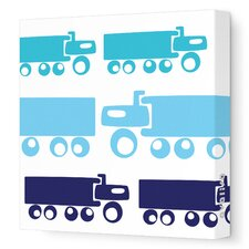 Things That Go Trucks Stretched Canvas Art
