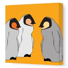 Animal - Baby Penguins Stretched Wall Art