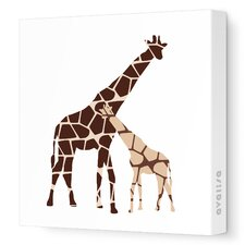 Animals Reticulated Giraffe Stretched Canvas Art