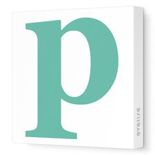 Letter - Lower Case 'p'  Stretched Wall Art