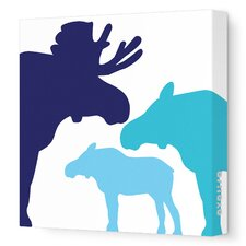 Animals Moose Stretched Canvas Art