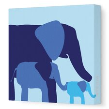 <strong>Avalisa</strong> Animal - Elephants Stretched Wall Art