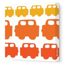 Things That Go Car Stretched Canvas Art