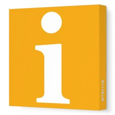 Letter - Lower Case 'i' Stretched Wall Art