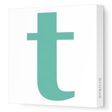 Letters Lower Case 't' Stretched Canvas Art