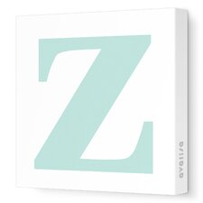 Letter - Lower Case 'z' Stretched Wall Art