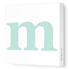 Letters Lower Case 'm'  Stretched Canvas Art