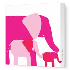 Animals Elephants Stretched Canvas Art