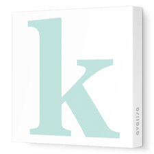 Letter - Lower Case 'k' Stretched Wall Art