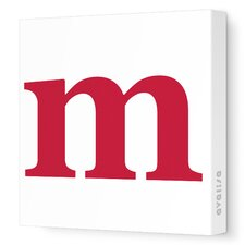 Letter - Lower Case 'm'  Stretched Wall Art