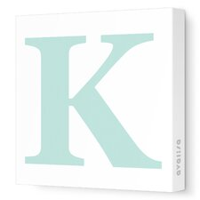 Letters Upper Case 'K' Stretched Canvas Art