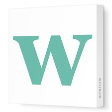Letters Lower Case 'w' Stretched Canvas Art