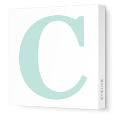 Letters Upper Case 'C' Stretched Canvas Art