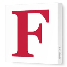 Letter - Upper Case 'F' Stretched Wall Art