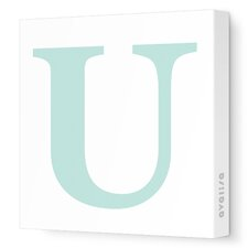 Letters Upper Case 'U' Stretched Canvas Art