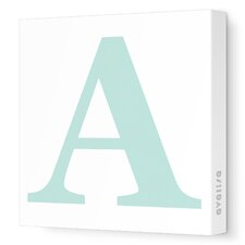 Letter Upper Case Stretched Canvas Art