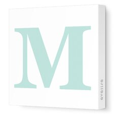Letter - Upper Case 'M' Stretched Wall Art