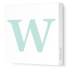 Letters Upper Case 'W' Stretched Canvas Art