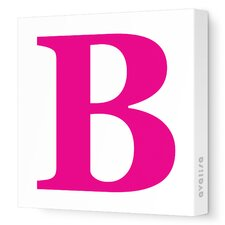 Letter - Upper Case 'B' Stretched Wall Art