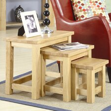 Oaken 3 Piece Nest of Tables