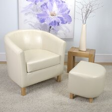 Tub Chair and Stool Set
