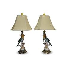 "Ormolu Parrot 25"" H 1 Light Table Lamp (Set of 2)"