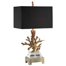 1 Light Coral Table Lamp