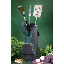 <strong>Golf Gifts & Gallery</strong> BBQ Grlling Tool Set in Golf Bag