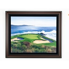 """Pebble Beach 7"" Canvas Framed Art"