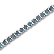 Ball and Flower Bracelet Sterling Silver