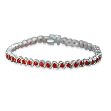 Time tested Classic Round Cut Gemstone Tennis Bracelet in Sterling Silver