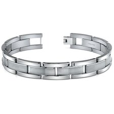 <strong>Oravo</strong> Tungsten Matte and High Polish Link Bracelet for Men