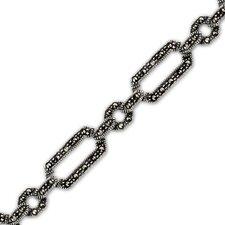 Linked Forever Sterling Silver Marcasite 71 4 inches Multilink Bracelet