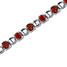 <strong>Oravo</strong> Elegant Style Round Shaped Gemstone Bracelet in Sterling Silver