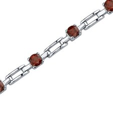 Gorgeous and Chic Round Shaped Gemstone Bracelet in Sterling Silver