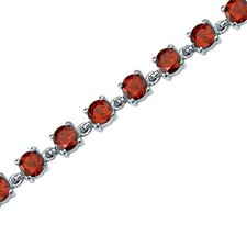 Eternally Magnificent Round Shaped Gemstone Bracelet in Sterling Silver